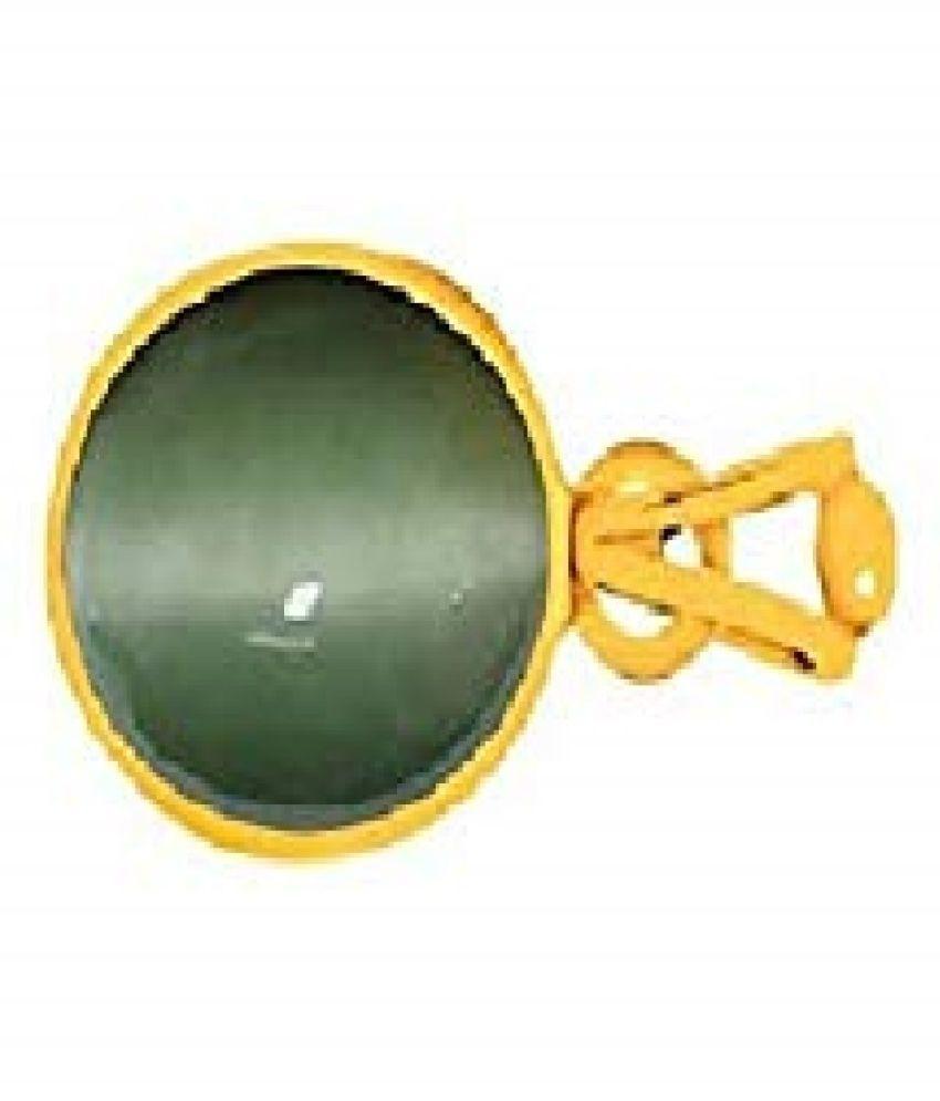 5 Ratti Cats Eye Pendent Ashthadhatu with Gold Plated For Men & Women… Gold-plated Cat's Eye  Pendant by RATAN BAZAAR