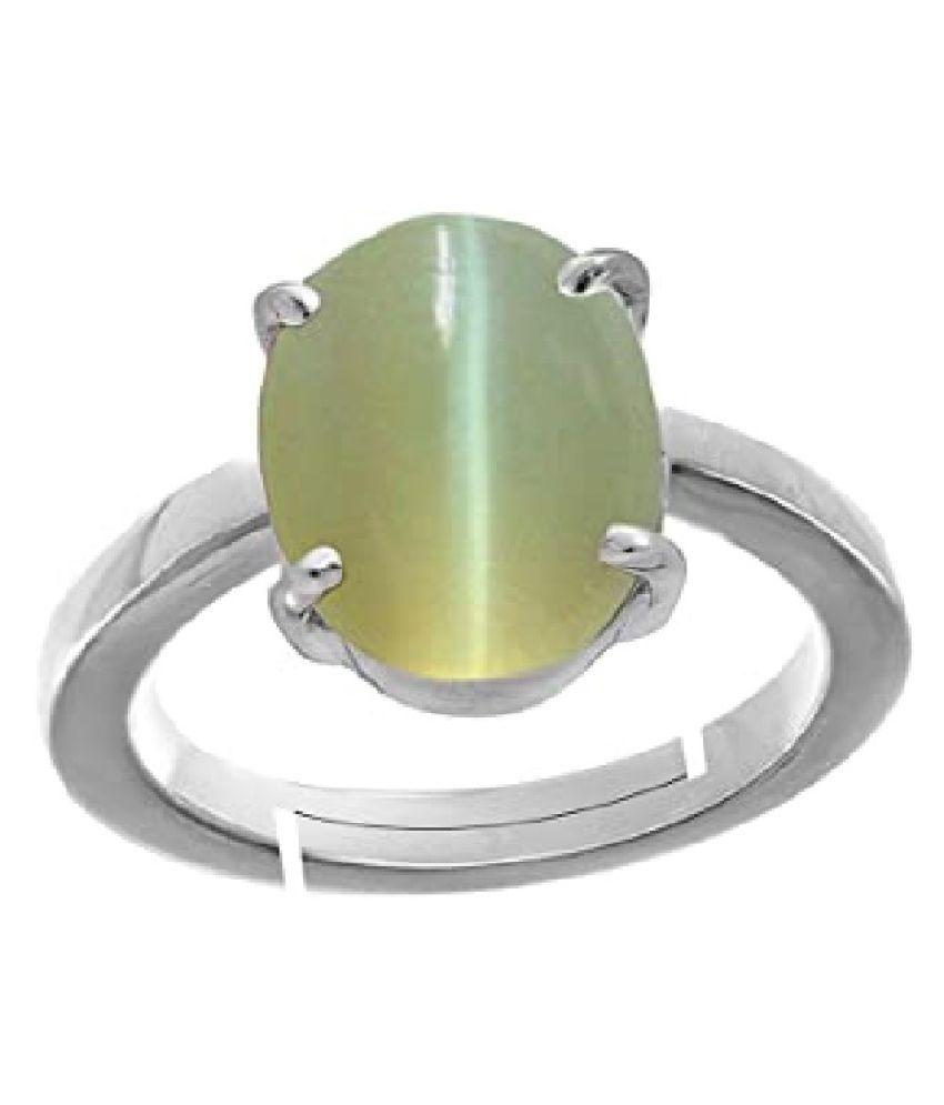 Cat's Eye Ring 6.25 carat  silver Ring  by  KUNDLI GEMS
