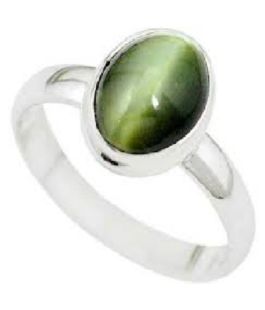 Cat's Eye original & lab certified 6.25 ratti Silver Ring for astrological purpose by KUNDLI GEMS\n