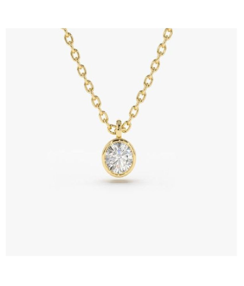 Natural 5.5 Ratti Zircon  Gold Plated Pendant by  KUNDLI GEMS\n