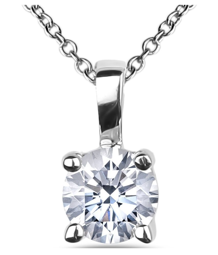 Silver  6.25 Ratti Zircon Silver Pendant  by KUNDLI GEMS\n