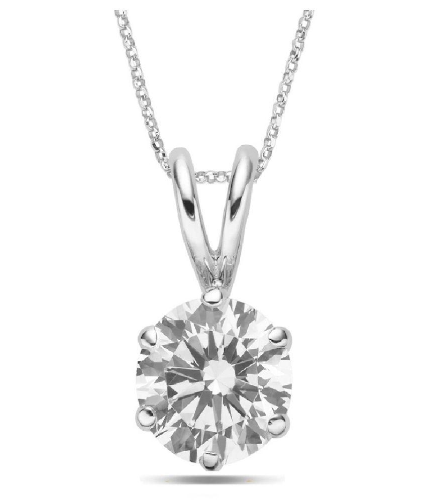 Silver 6.25 Ratti Zircon Pendant for unisex by KUNDLI GEMS\n