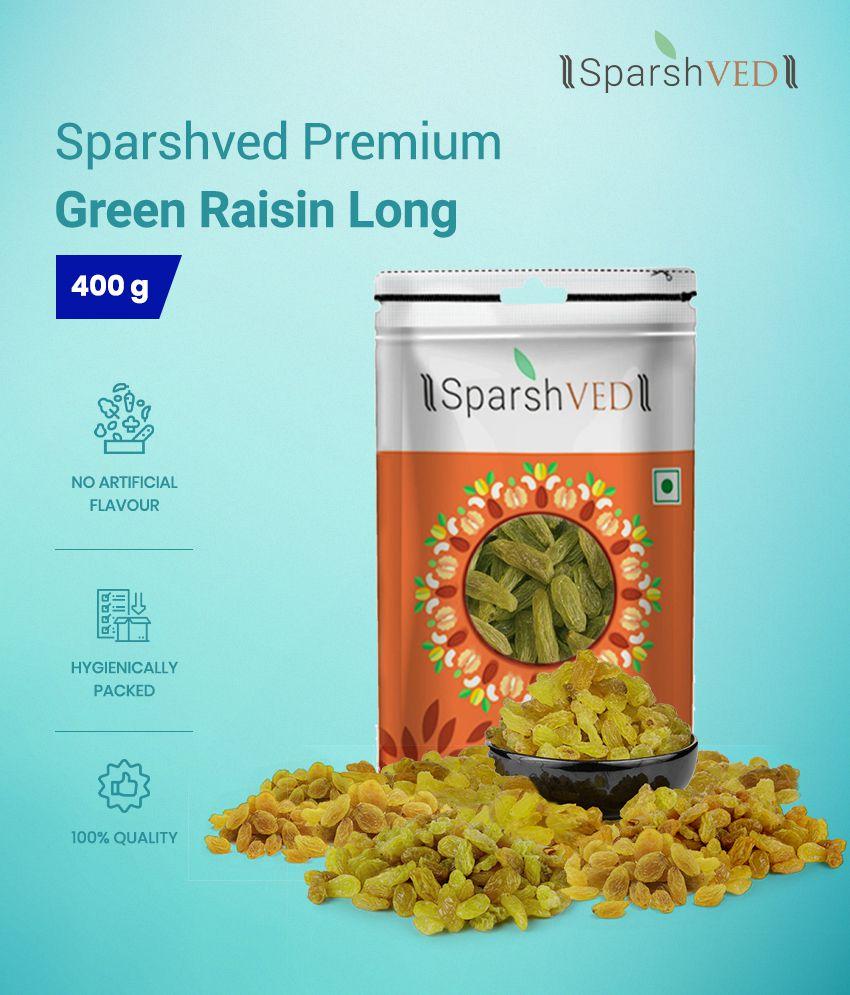 Sparshved Premium Green Raisin Long (Kishmish) 400g