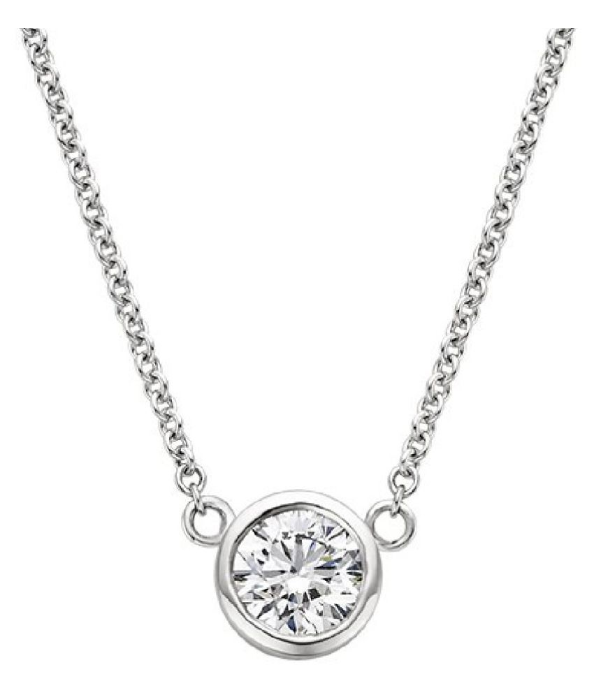 natural 6.25 Ratti Zircon  pure silver Pendant for unisex by KUNDLI GEMS\n