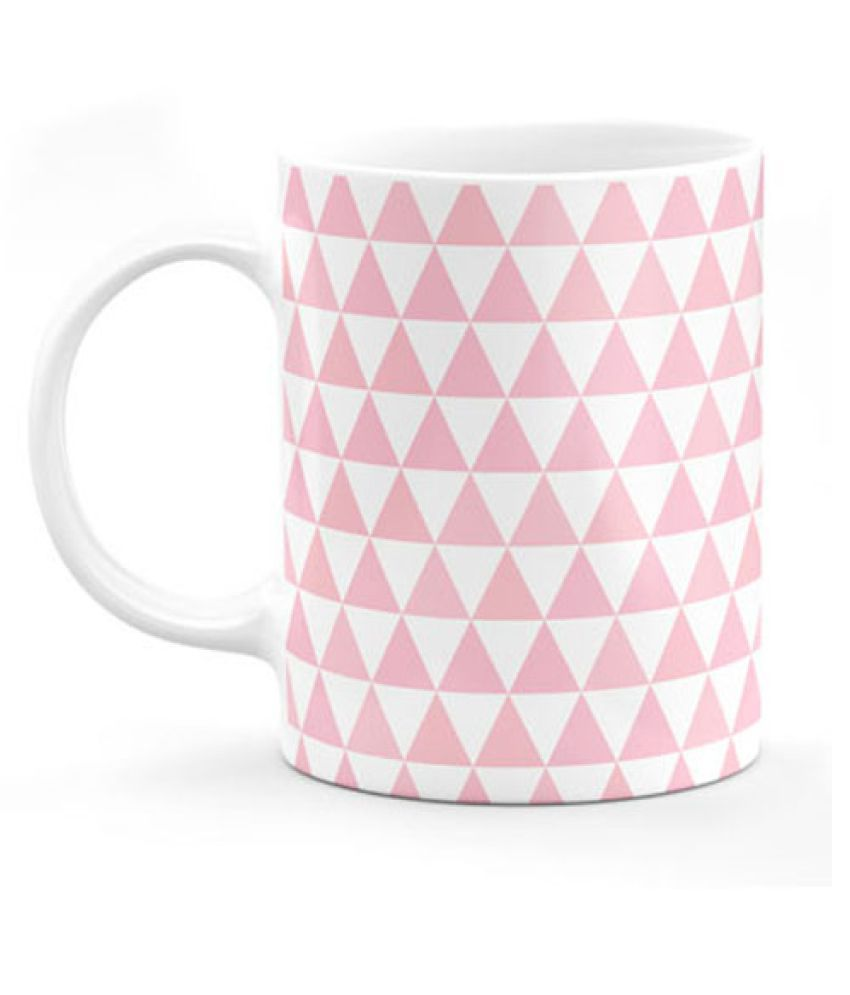 Moments Memories Triangle Pattern Ceramic Coffee Mug 1 Pcs 350 Ml Buy Online At Best Price In India Snapdeal