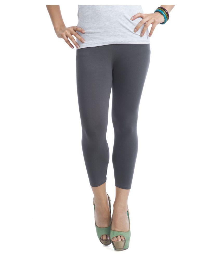 Femmora Cotton Lycra Tights - Grey