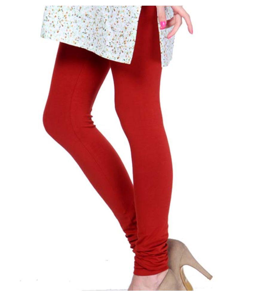 Femmora Cotton Lycra Tights - Maroon