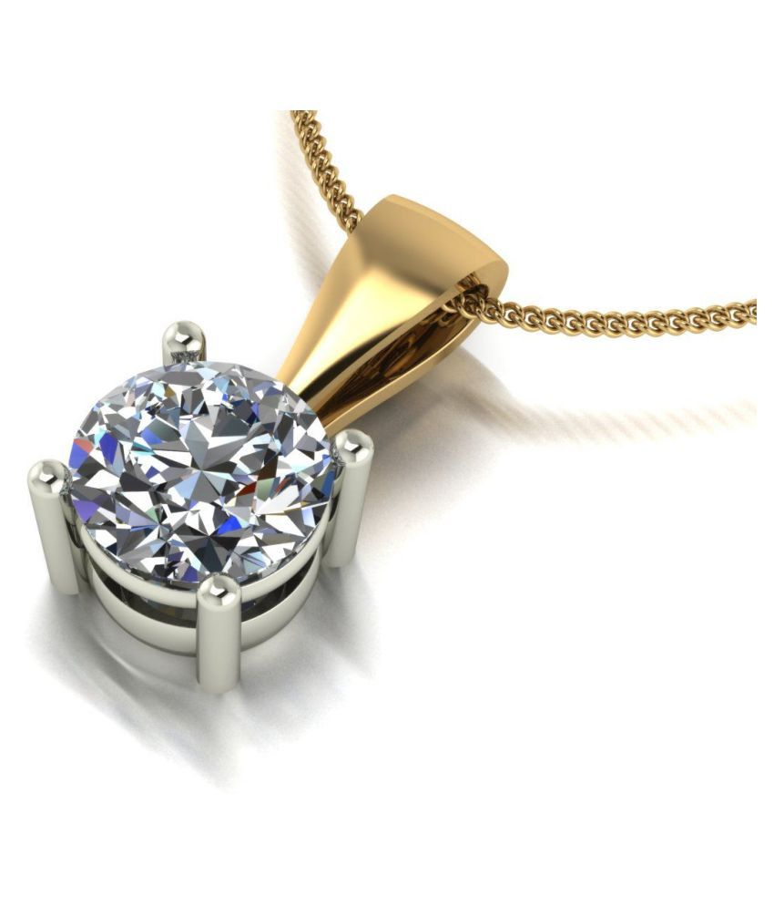 Natural Gold Plated 7.25 Ratti Zircon   Pendant by  KUNDLI GEMS\n