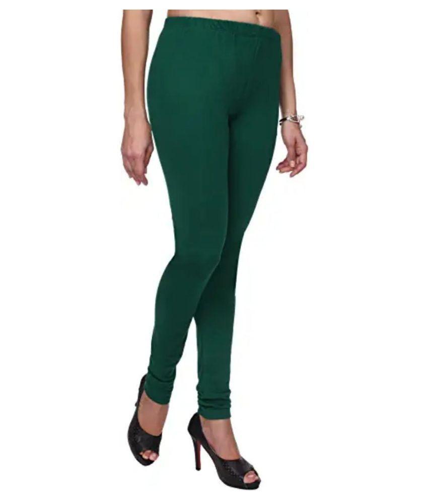 SK Creation Cotton Lycra Jeggings - Green