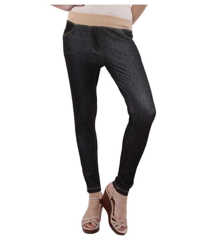Femmora Cotton Lycra Tights - Black