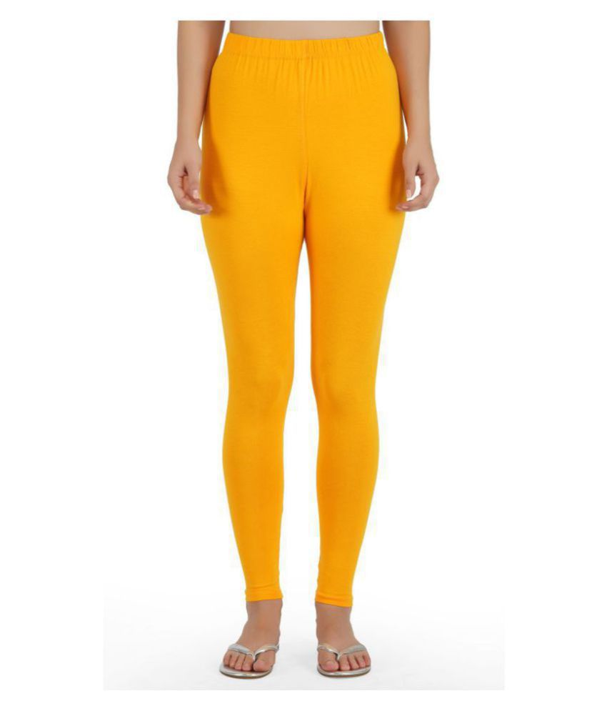 Girly Girls Cotton Jeggings - Yellow