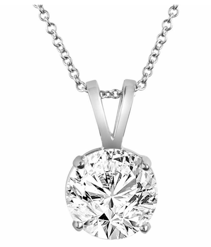 natural 8 Ratti Zircon  pure Silver Pendant for unisex by KUNDLI GEMS\n