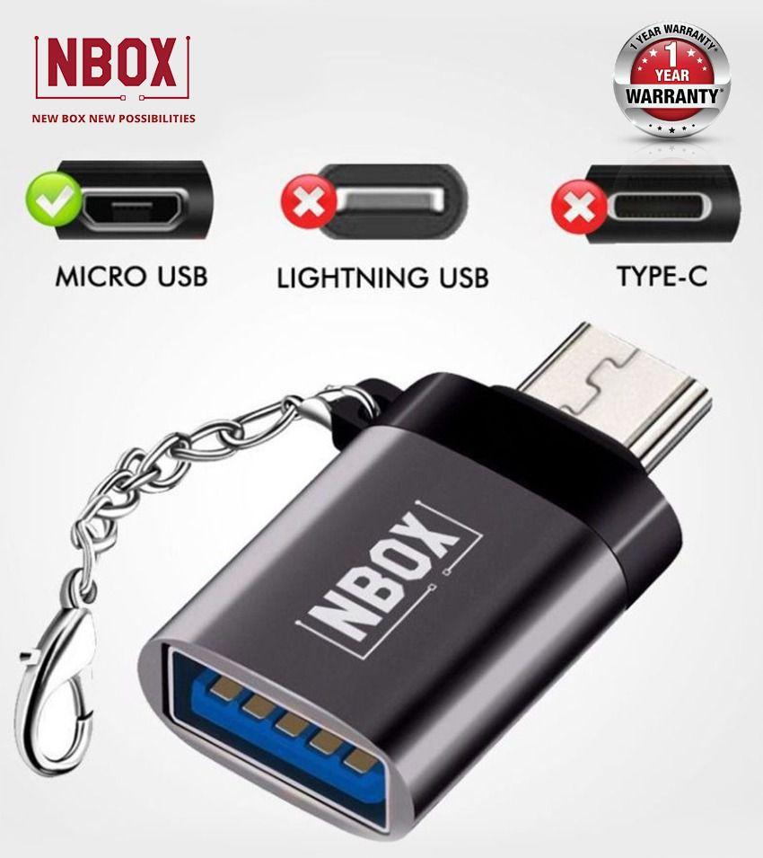NBOX F11 Micro USB to USB OTG Adapter - Silver