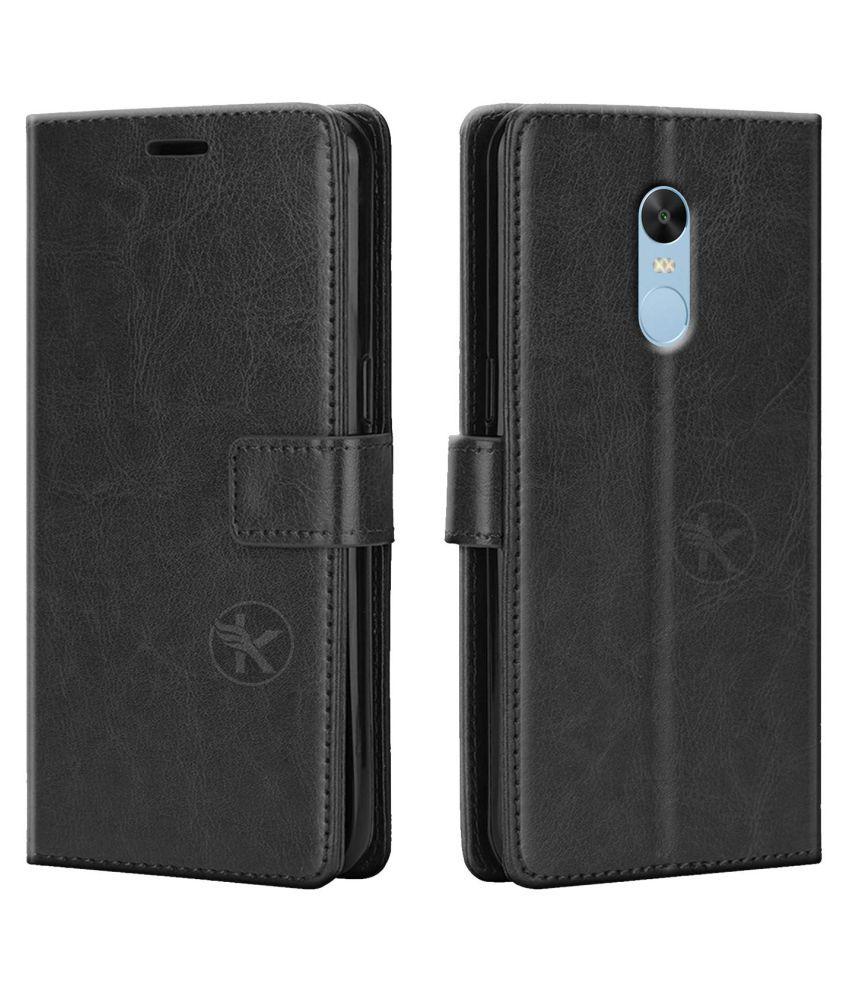 Xiaomi Mi Note 4 Flip Cover by Prem Brothers   Black premium quality