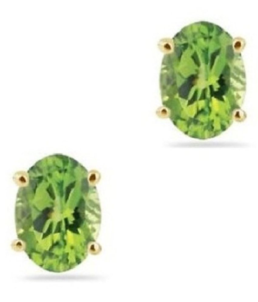 vinayak solitaire gems stud earring collections oval 79