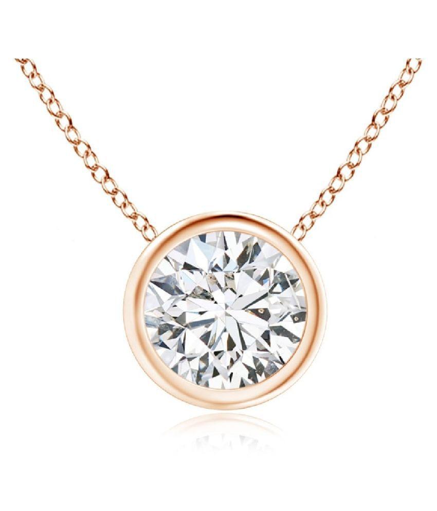 American Diamond  Gold Plated Pendant by Ratan Bazaar