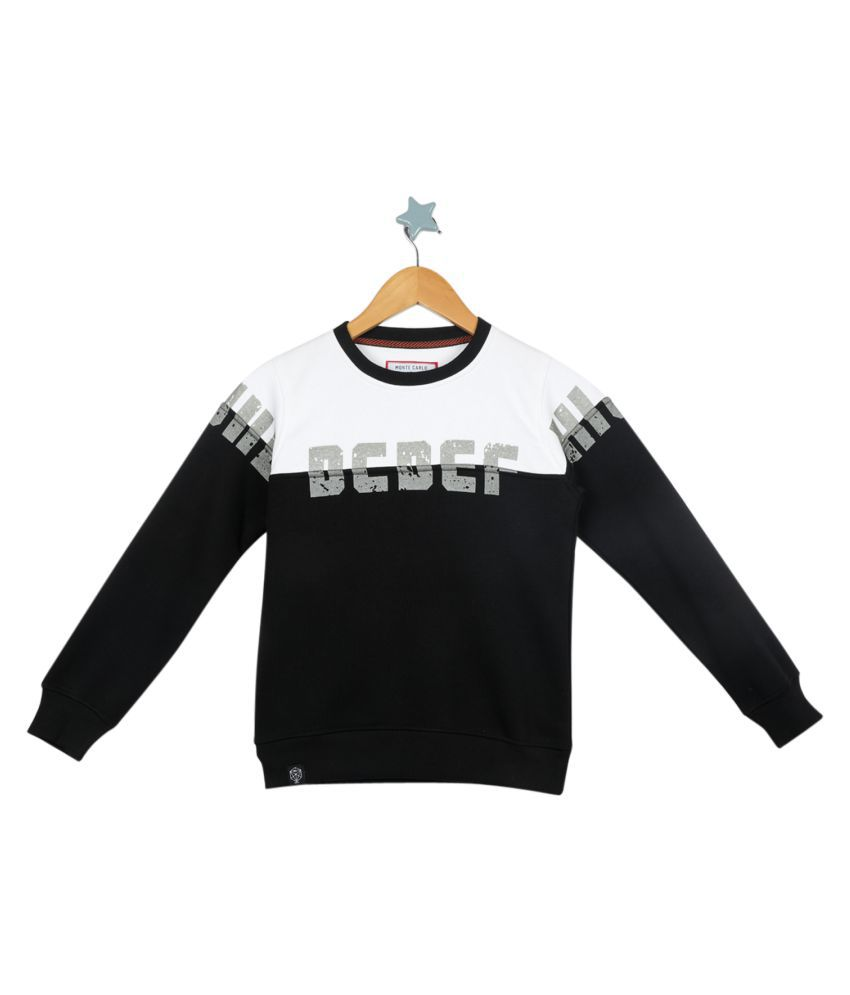 Monte Carlo White Black Coloured Boys Sweatshirt
