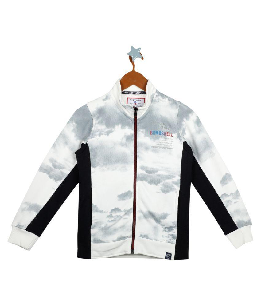 Monte Carlo White Navy Coloured Boys Sweatshirt