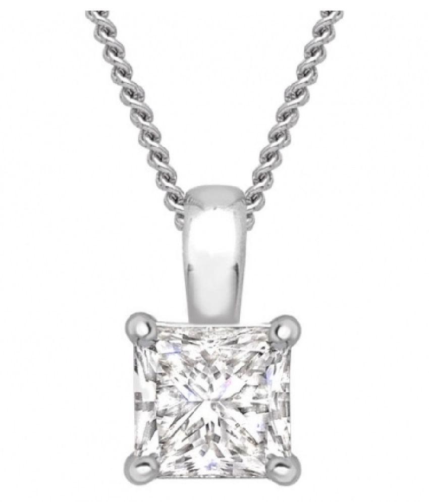 Silver  American Diamond  Pendant by Ratan Bazaar\n