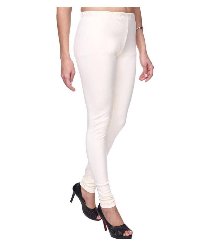 SK Creation Cotton Lycra Jeggings - White