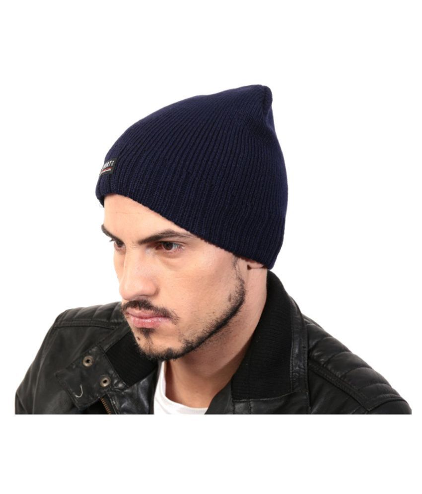 Sane Moda Navy Acrylic Caps