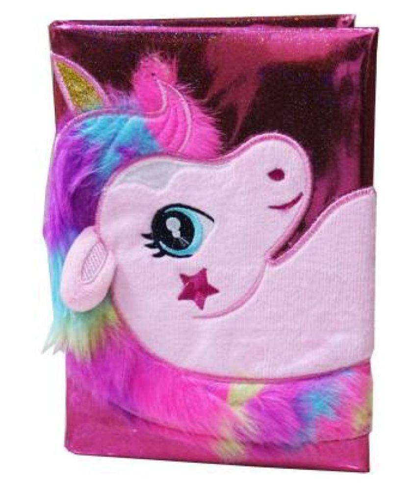 Unicorn Diary Fur Notebook for Little Girls