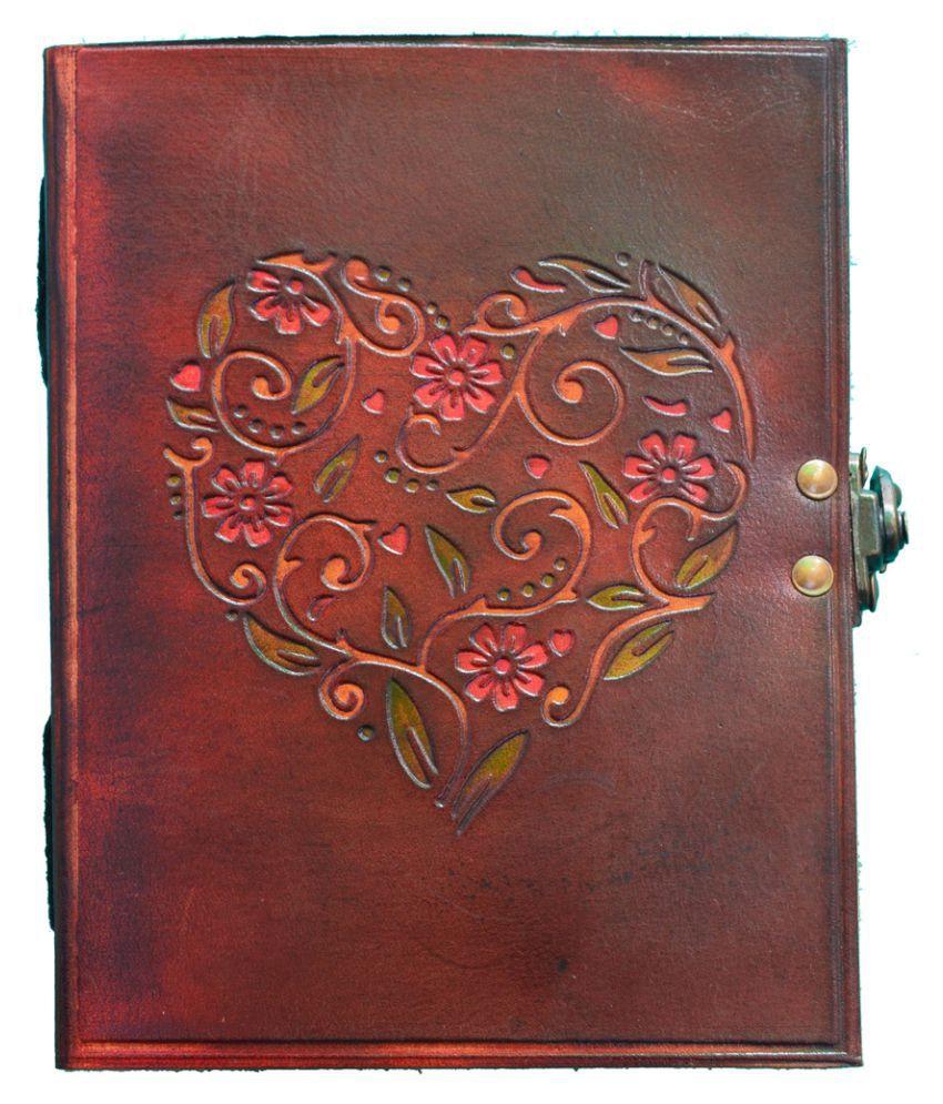 Valentine Love Heart Designer Leather Journal/Diary, 7 X 5 Inch