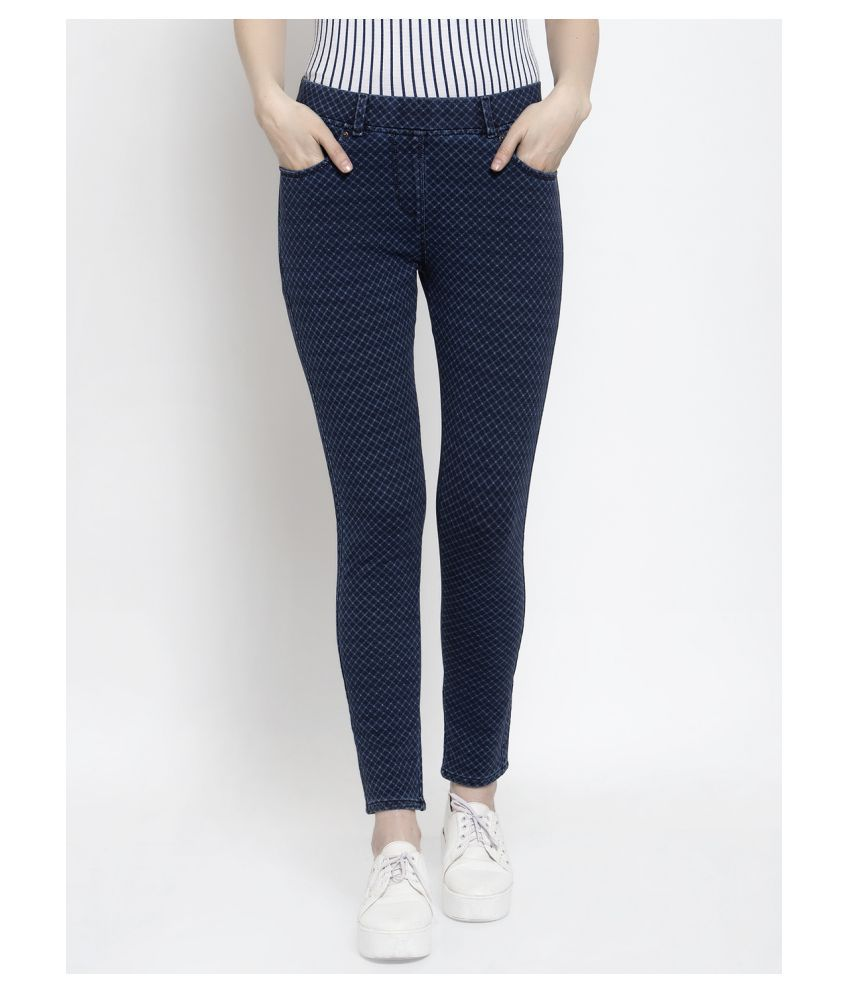 Westwood Cotton Jeggings - Blue