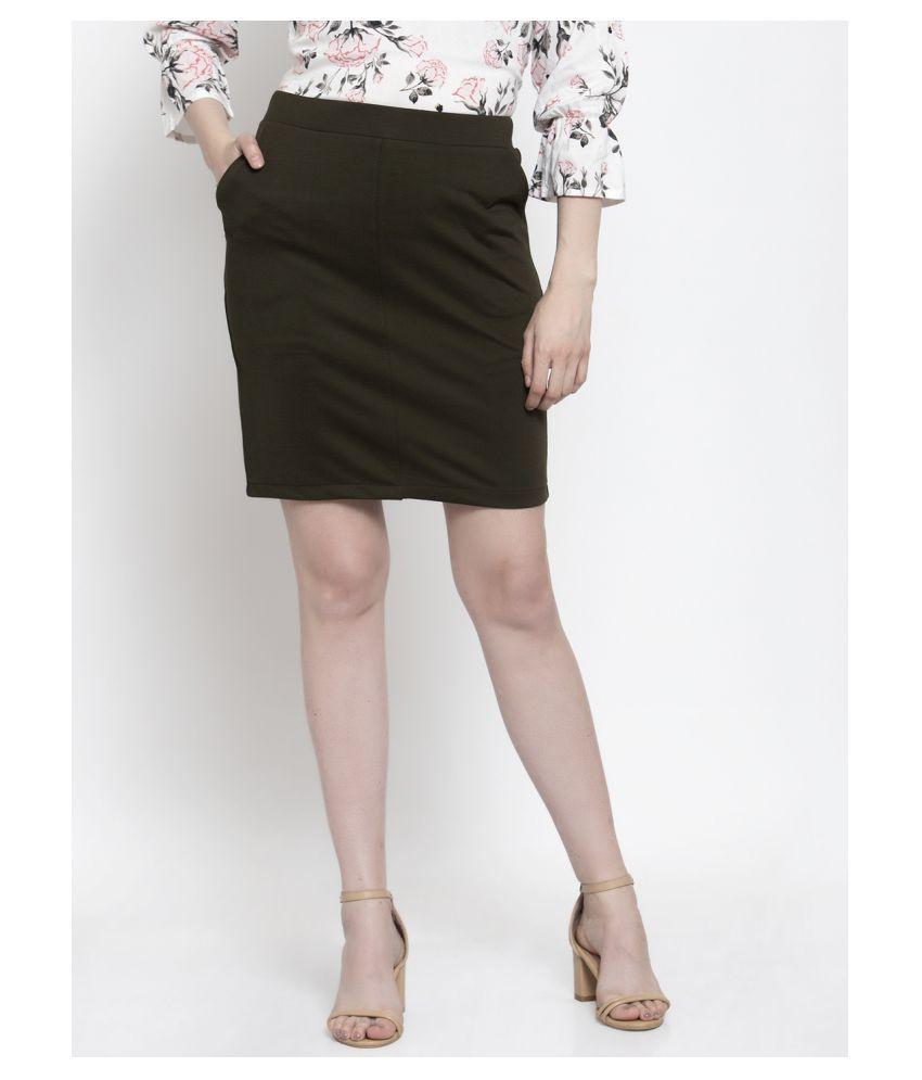 Westwood Cotton Straight Skirt - Green