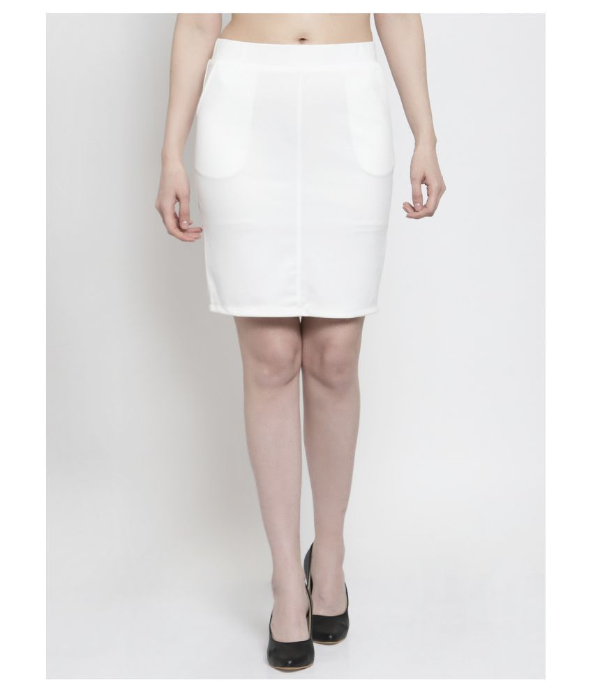 Westwood Cotton Straight Skirt - White