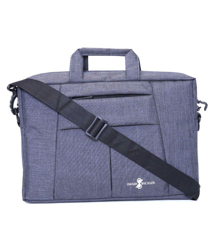 swashbuckler Grey Polyester Office Messenger Bag