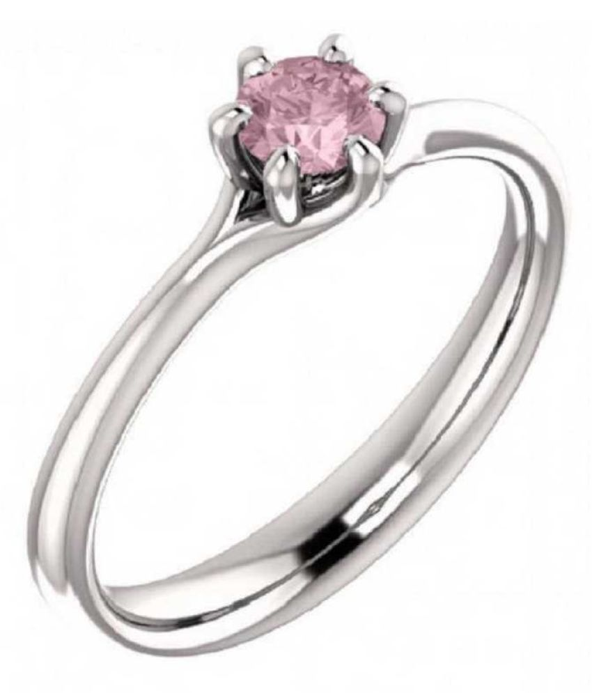 6 ratti Natural PINK SAPPHIRE  Stone Unheated Lab Certified silver RING(ANGUTHI) by KUNDLI GEMS\n
