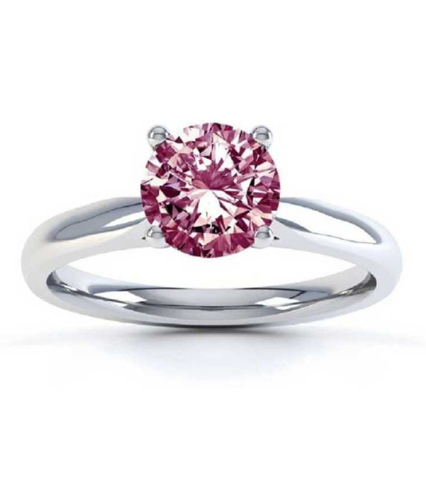 8.25 Carat Lab Certified  Silver PINK SAPPHIRE RING(ANGUTHI) for unisex by KUNDLI GEMS