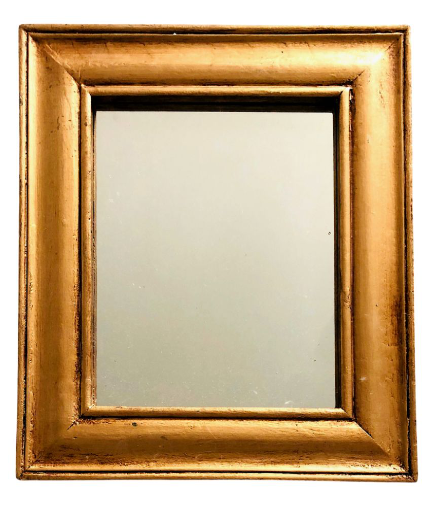 CasaGold Mirror Wall Mirror Gold ( 38 x 33 cms ) - Pack of 1