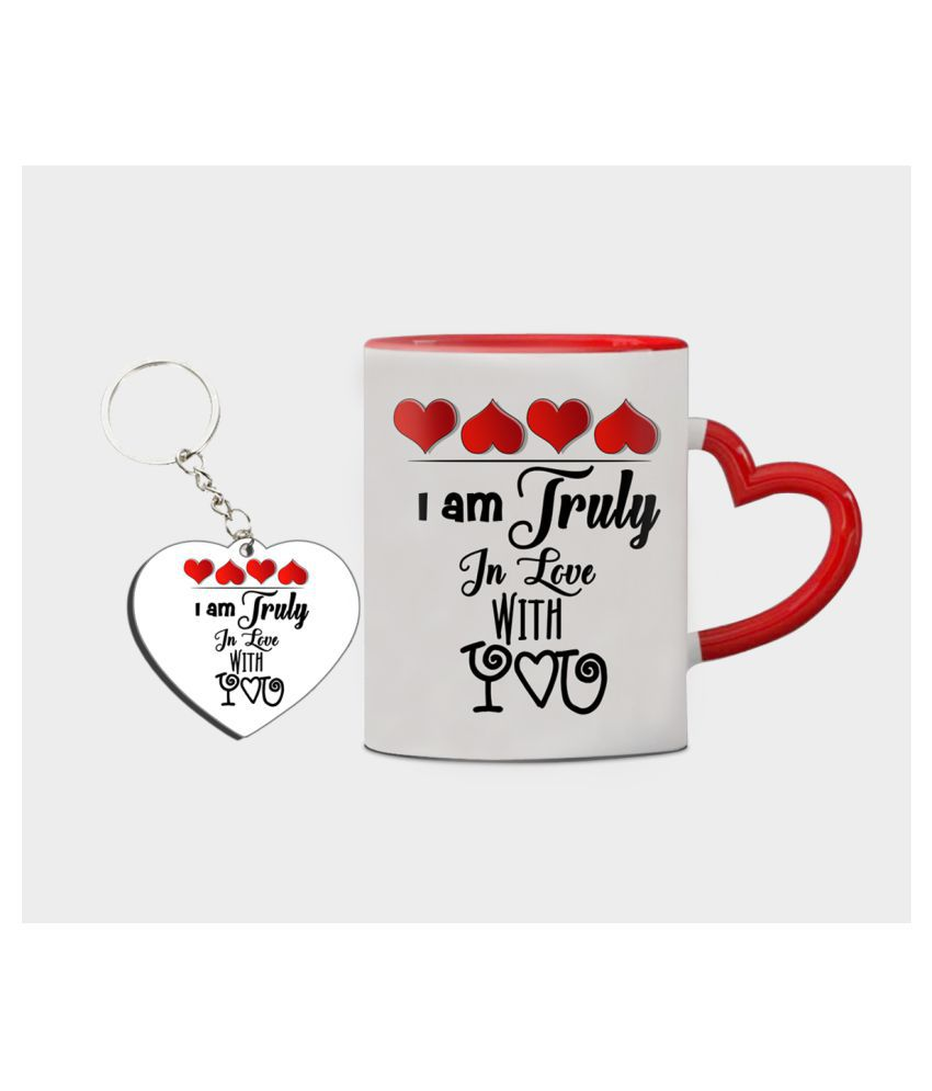 Festa Ceramic Valentine Mugs Red - Pack of 2