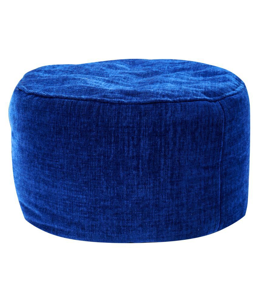 The Bean Bag Theory Premium Fabric Blue Puffy Large Bean Bag Cover ( Without Beans )