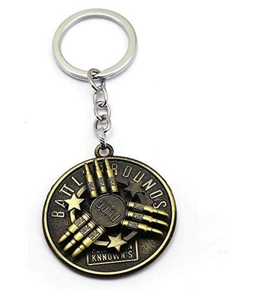 delhideals Metallic Keychain Assorted