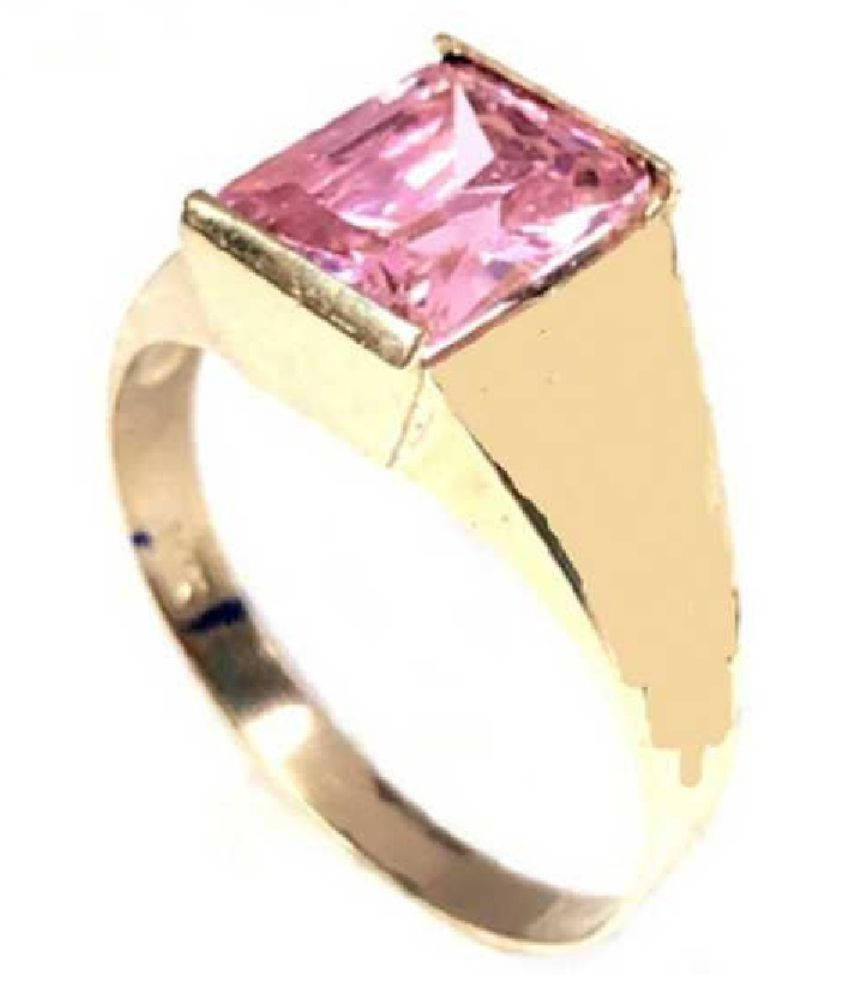 8 ratti Natural PINK SAPPHIRE  Stone Unheated Lab Certified pure Gold plated RING(ANGUTHI) by RATAN BAZAAR\n