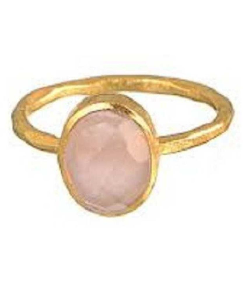 9.25 Ratti GOLD PLATED Original PINK SAPPHIRE  RING(ANGUTHI) Lab Certified Stone by RATAN BAZAAR\n