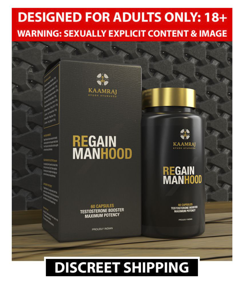 Kaamraj Regain Manhood For Natural Penis Size Increase And Stamina Build Up Without Side Effects | Made In India | 100% Ayurvedic - 60 Caps