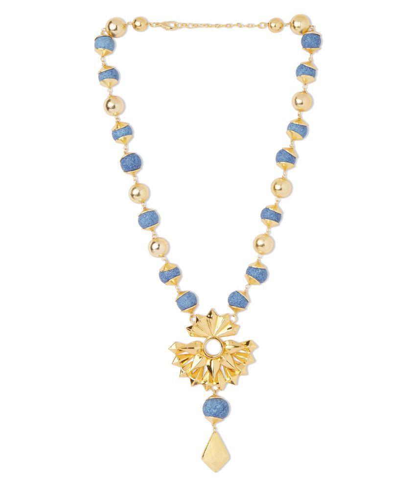 Big Island Ceramic Blue Contemporary/Fashion Necklace Statement