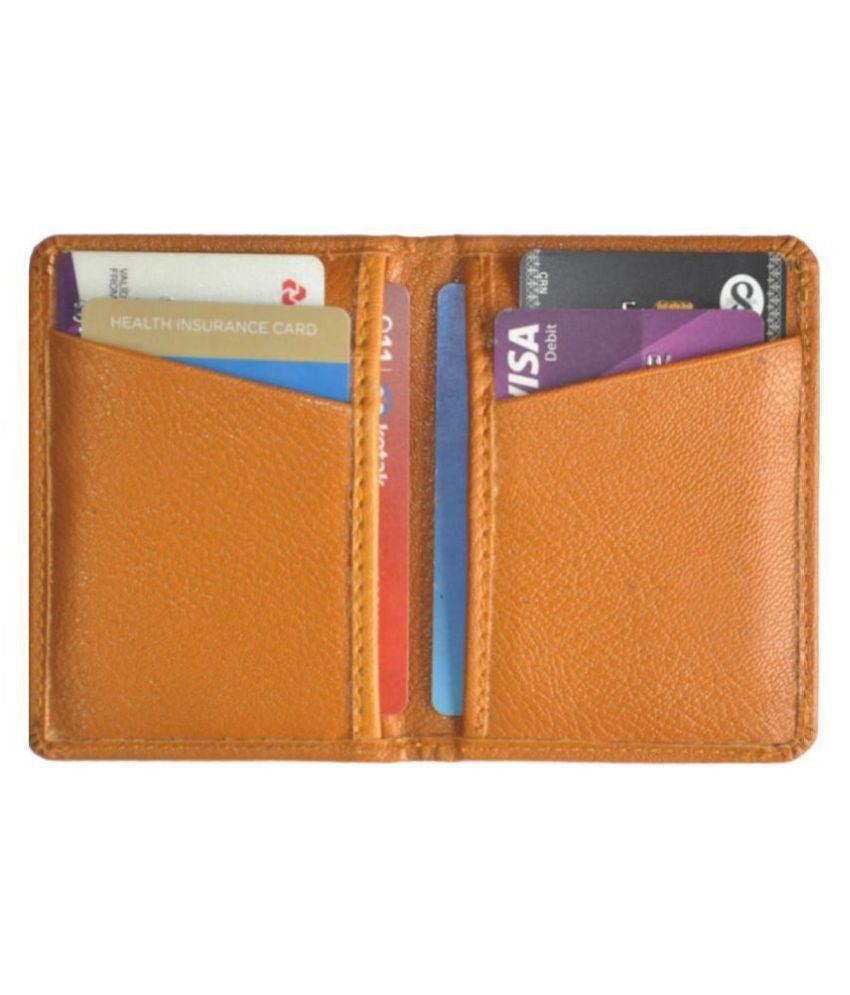 Hide&Sleek Flap Tan Card Holder