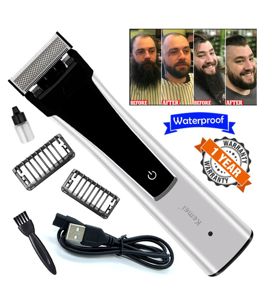GK Professional USB Rechargeable Washable Beard Mustache Trimmer Hair Clipper Casual Gift Set