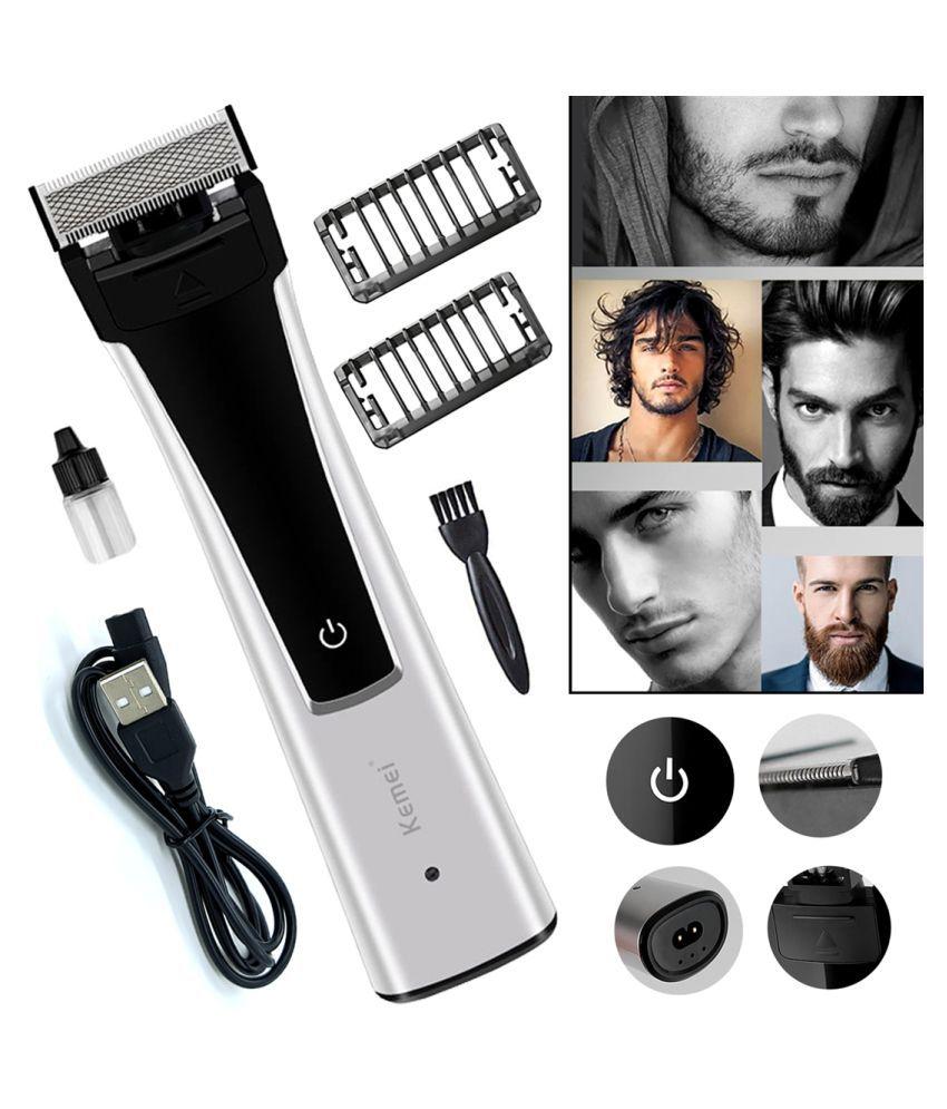 JF USB Charging Razor Looking 0 Trim Beard Mustache Trimmer Hair Clipper Razor Formal Gift Set
