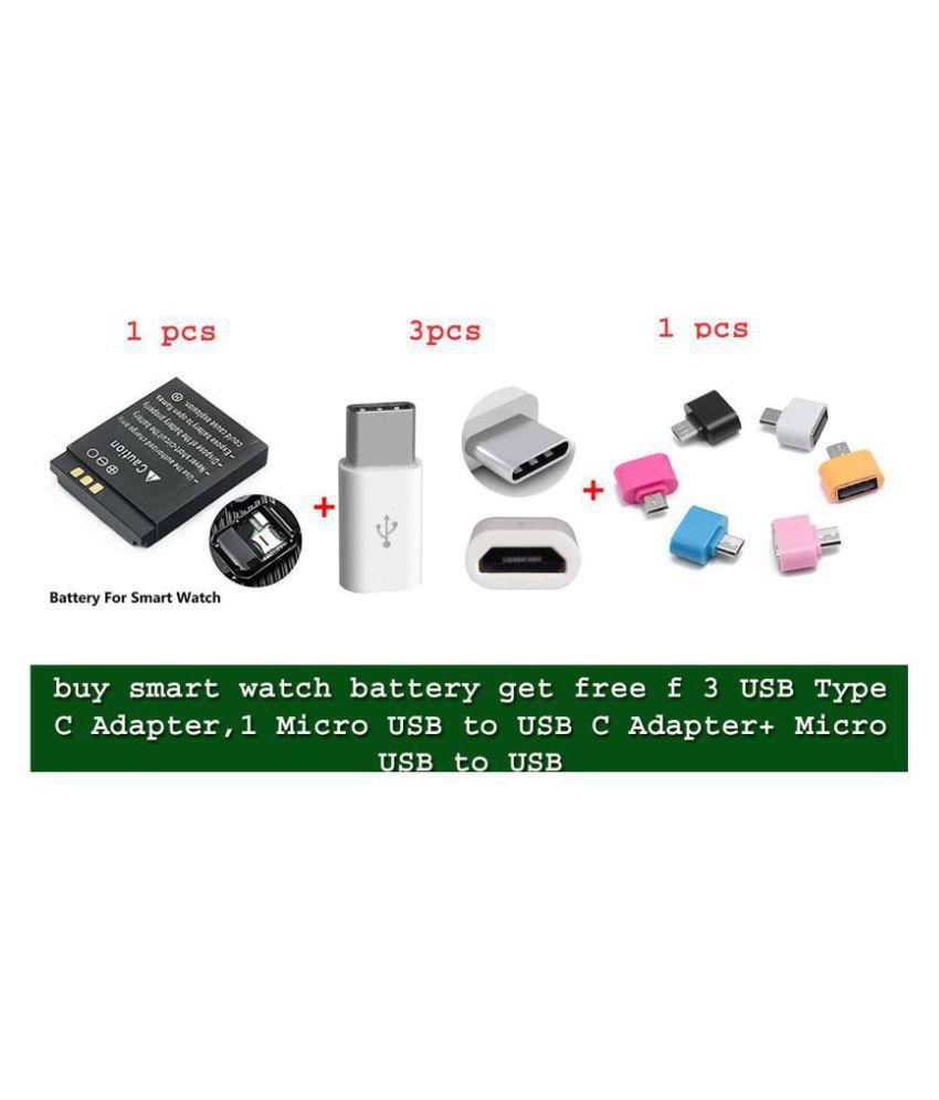 S & Co. buy smart watch battery free f 3 USB Type C Adapter,Micro USB to USB C Adapter+ Micro USB to USB A Female