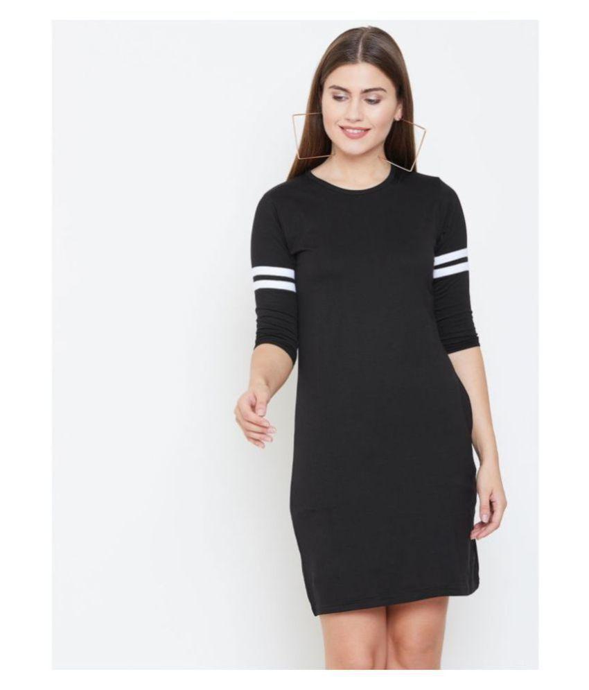 Jhankhi Cotton Black Bodycon Dress