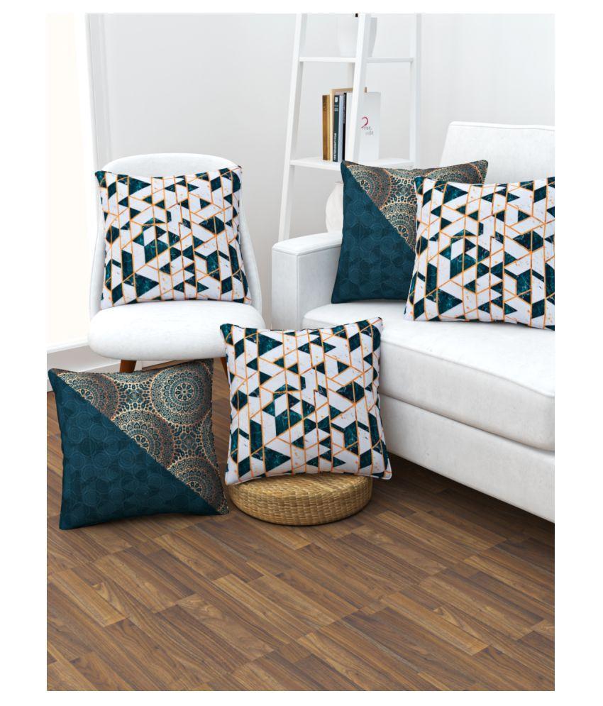 SHIVANAA HOMES Set of 5 Blends Cushion Covers 30X30 cm (12X12)