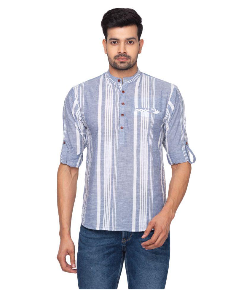 Salwar Studio Blue Cotton Kurta Single