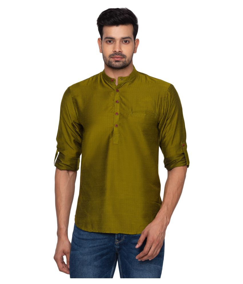 Salwar Studio Green Cotton Kurta Single