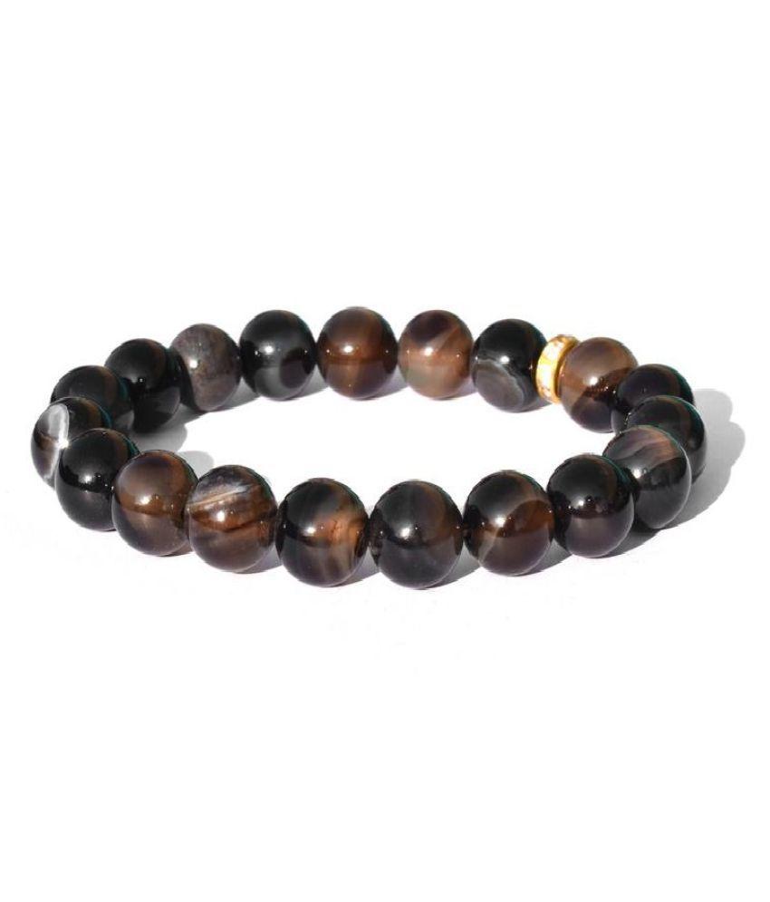 Stone Sulemani Hakik Bracelet for unisex by Kundli Gems  \n